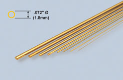 K&S Brass Rod .072inch X 12inch - w-ks0169