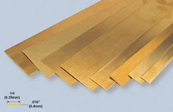 K&S BrassStrip .016inchX1/4inchX12 - w-ks0230