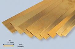 K&S BrassStrip .025inchX1/2inchX12 - w-ks0236