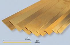 K&S Brass Strip .025inchX2inchX12inch - w-ks0239