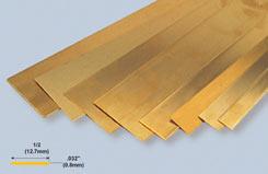 K&S BrassStrip .032inchX1/2inchX12 - w-ks0241