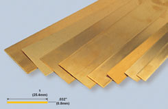K&S Brass Strip .032inchX1inchX12inch - w-ks0242