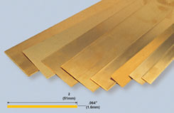 K&S Brass Strip .064inchX2inch X12 - w-ks0249