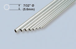 K&S Aluminium Tube 7/32inch X36 - w-ks1112