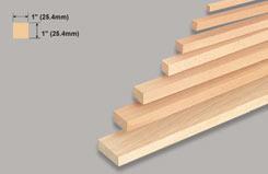 Block Balsa 1 X 1 X 36 - w-l120