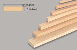 Block Balsa 1 X 3 X 36 - w-l124