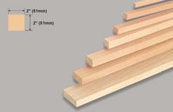 Block Balsa 2 X 2 X 36 - w-l140