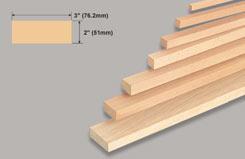 Block Balsa 2 X 3 X 36 - w-l142