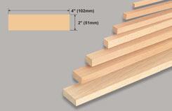Block Balsa 2 X 4 X 36 - w-l143