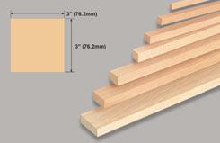 Block Balsa 3 X 3 X 36 - w-l160