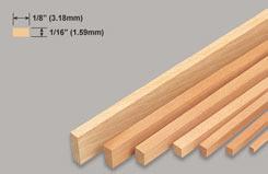 Strip Balsa 1/16 X 1/8 X 36 - w-l221-10