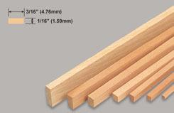 Strip Balsa 1/16 X 3/16 X 3 - w-l222-10
