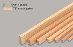 Strip Balsa 1/16 X 1/4 X 36 - w-l223-10