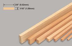 Strip Balsa 1/16 X 3/8 X 36 - w-l224-10