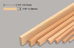 Strip Balsa 1/16 X 1/2 X 36 - w-l225-10