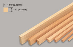Strip Balsa 1/8 X 1/8 X 36 - w-l240-10