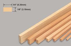 Strip Balsa 1/8 X 1/4 X 36 - w-l242-10