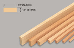 Strip Balsa 1/8 X 1/2 X 36 - w-l244-10