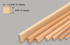 Strip Balsa 3/16 X 3/16 X 3 - w-l250-10