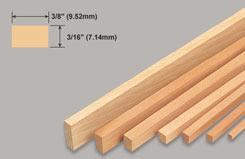 Strip Balsa 3/16 X 3/8 X 36 - w-l252-10