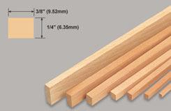 Strip Balsa 1/4 X 3/8 X 36 - w-l261-10