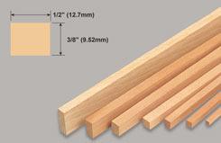 Strip Balsa 3/8 X 1/2 X 36 - w-l271-10
