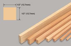 Strip Balsa 1/2 X 1/2 X 36 - w-l280-10