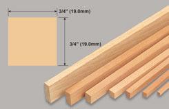 Strip Balsa 3/4 X 3/4 X 36 - w-l290-5