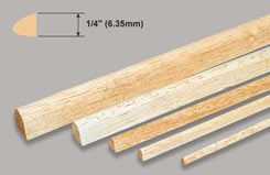 Balsa Leading Edge 1/4 X 36 - w-l320-10