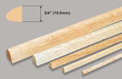 Balsa Leading Edge 3/4 X 36 - w-l350-5