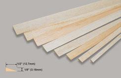 Balsa T/L Edge 1/8 X 1/2 X - w-l421-10