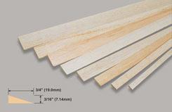 Balsa T/L Edge 3/16 X 3/4 X - w-l431-10