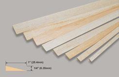 Balsa T/L Edge 1/4 X 1 X 36 - w-l441-10