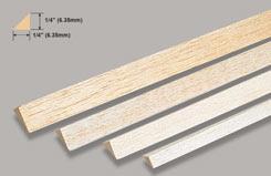 Balsa Rt. Angle 1/4 X 1/4 - w-l530-10