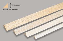 Balsa Rt. Angle 3/8 X 3/8 X - w-l540-10
