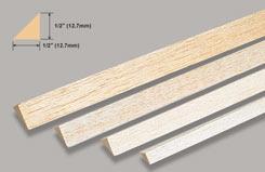 Balsa Rt. Angle 1/2 X 1/2 X - w-l550-10