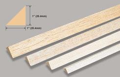 Balsa Rt. Angle 1 X 1 X 36 - w-l570-5
