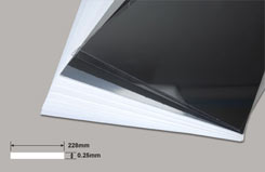 .010inch Plasticard-Wht 0.25x228x330mm - w-pc1010-12