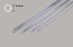 Clear Acrylic Rod - 6.4mm Diameter - w-pcar-8