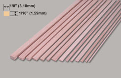 Spruce Strip 1/16 X 1/8 X 3 - w-sp221-10