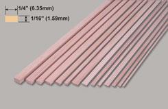 Spruce Strip 1/16 X 1/4 X 3 - w-sp223-10