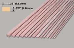 Spruce 3/16x3/8x36inch 4.76 9.52x914mm - w-sp252-10