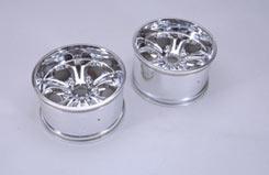 Wheel-Chrome (23mm Hex/Pk2)- GST7.7 - z-cengs287